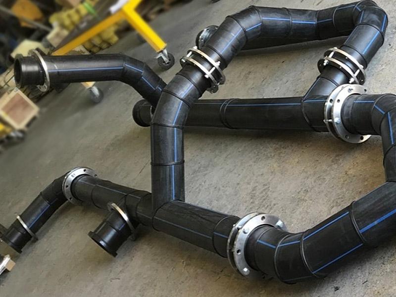 Ingomar Manifold y piezas personalizadas en HDPE