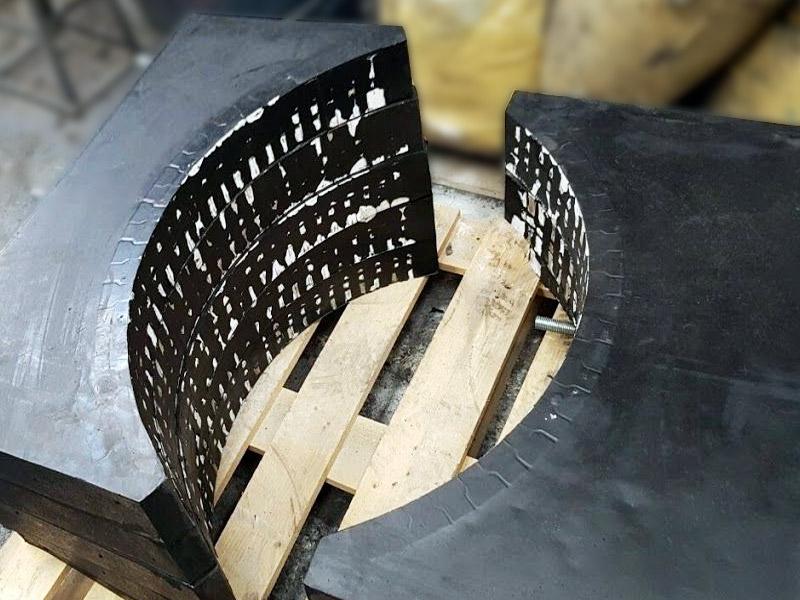 Piezas de caucho-cerámico Ingomar