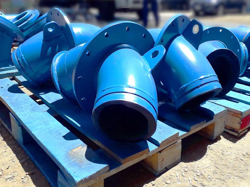 Revestimiento caucho cerámico de ductos - piping Ingomar