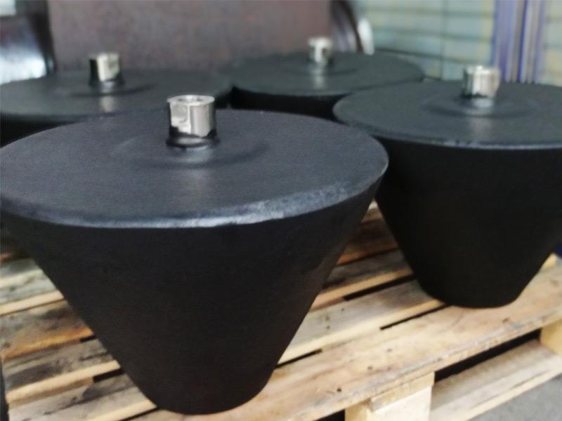 Revestimiento en caucho de tapones para celdas de flotación - Ingomar