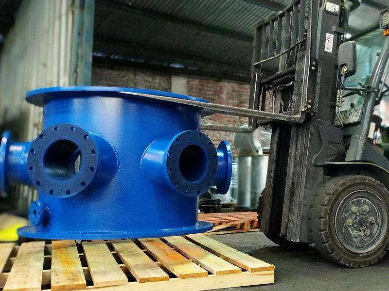 Distribuidor de hidroclicon revestimiento poliuretano Ingomar