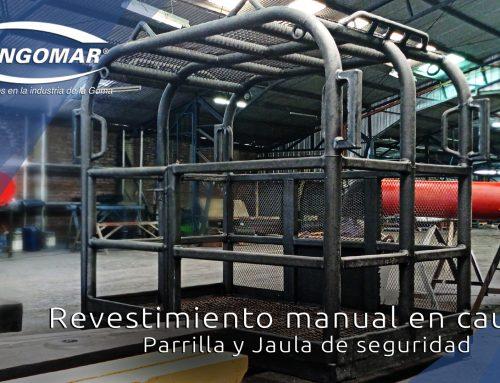 Revestimiento manual en caucho de parrilla y jaula de seguridad