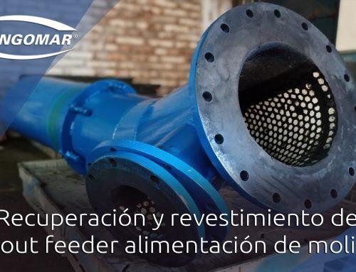 Recuperación y revestimiento de spout feeder alimentación de molino