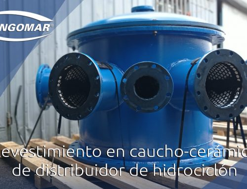 Revestimiento en caucho-cerámico de distribuidor de hidrociclón